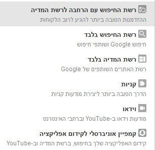 סוגי קמפיינים גוגל אדוורדס