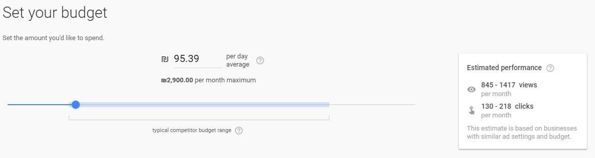 קביעת תקציב פרסום במערכת גוגל אקספרס